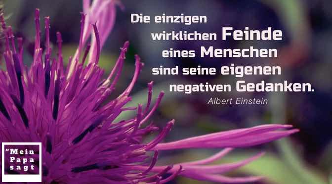 Die einzigen wirklichen Feinde eines Menschen sind seine eigenen negativen Gedanken.