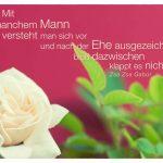 Weiße Rose mit Gabor Zitate Bildern: Mit manchem Mann versteht man sich vor und nach der Ehe ausgezeichnet - bloß dazwischen klappt es nicht. Zsa Zsa Gabor