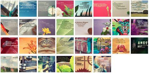 Übersichtsbild. Bilder Galerie mit Lebensweisheiten, Weisheiten, Zitate Bilder, Sprichwörter und Sprüche des Tages Juni 2018