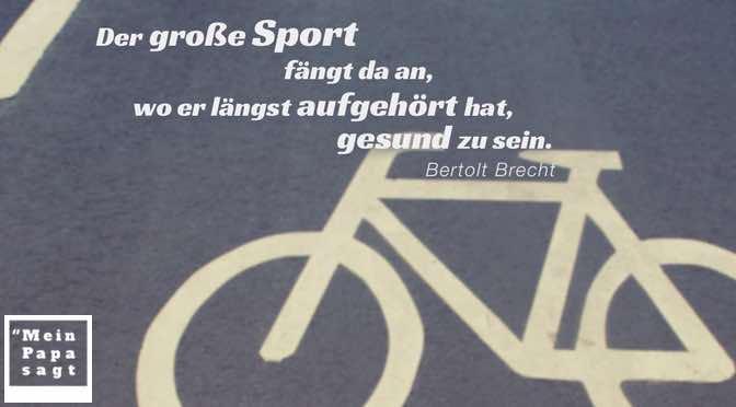Der große Sport fängt da an, wo er längst aufgehört hat, gesund zu sein