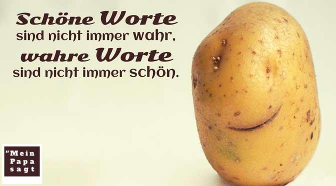 Schöne Worte sind nicht immer wahr, wahre Worte sind nicht immer schön.