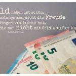 verschiedene EURO Noten mit Dali Zitate Bildern: Geld haben ist schön, solange man nicht die Freude an Dingen verloren hat, die man nicht mit Geld kaufen kann. Salvador Dali