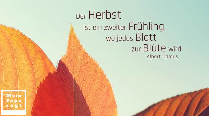 Der Herbst ist ein zweiter Frühling, wo jedes Blatt zur Blüte wird