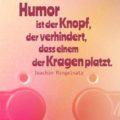 Beitragsbild - Humor ist der Knopf, der verhindert, dass einem der Kragen platzt