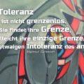 Beitragsbild - Die Toleranz ist nicht grenzenlos. Sie findet ihre Grenze, vielleicht ihre einzige Grenze, in der etwaigen Intoleranz des anderen