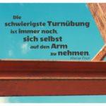 Stahlgerüst mit Finck Zitate Bilder: Die schwierigste Turnübung ist immer noch, sich selbst auf den Arm zu nehmen. Werner Finck