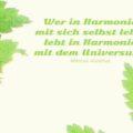 Beitragsbild - Wer in Harmonie mit sich selbst lebt, lebt in Harmonie mit dem Universum