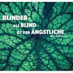 Pflanzenblatt mit Frisch Zitate Bilder: Blinder als blind ist der Ängstliche. Max Frisch