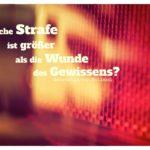 Auto Rücklicht mit von Mailand Zitate Bilder: Welche Strafe ist größer als die Wunde des Gewissens? Ambrosius von Mailand