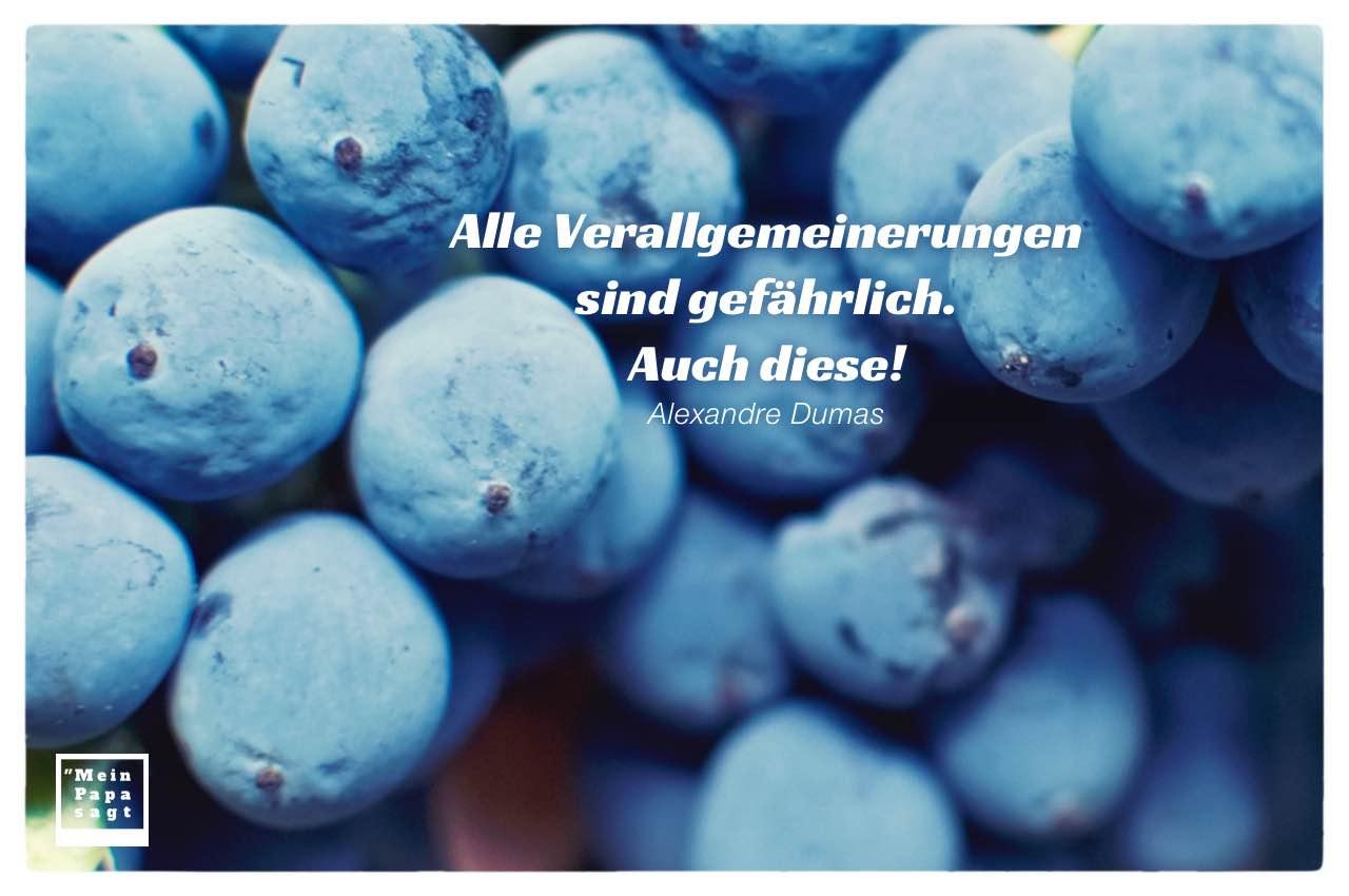 Heidelbeere mit Dumas Zitate Bilder: Alle Verallgemeinerungen sind gefährlich. Auch diese! Alexandre Dumas