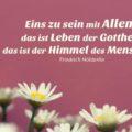 Beitragsbild - Eins zu sein mit Allem, das ist Leben der Gottheit, das ist der Himmel des Menschen