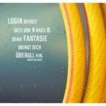 Schlauch mit Einstein Zitate Bilder: Logik bringt dich von A nach B. Deine Fantasie bringt dich überall hin. Albert Einstein