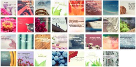 Übersichtsbild. Bilder Galerie mit Lebensweisheiten, Weisheiten, Zitate Bilder, Sprichwörter und Sprüche Bilder des Tages Mai 2019