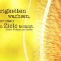 Die Schwierigkeiten wachsen, je näher man dem Ziele kommt - Goethe