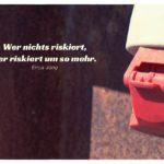 Starkstromanschluss mit Jong Zitate Bilder: Wer nichts riskiert, der riskiert um so mehr. Erica Jong