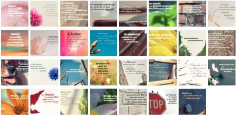 Übersichtsbild. Bilder Galerie mit Lebensweisheiten, Weisheiten, Zitate Bilder, Sprichwörter und Sprüche Bilder des Tages Juli 2019