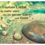 Schale mit Tropfen und Bodelschigh Zitate Bilder: Ein Tröpflein Liebe ist mehr wert als ein ganzer Sack voll Gold. Friedrich von Bodelschwingh