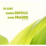 Grüne Blätter Maiglöckchen mit Tucholsky Zitate Bilder: Es gibt keinen Erfolg ohne Frauen. Kurt Tucholsky