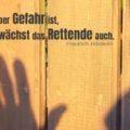 Wo aber Gefahr ist, wächst das Rettende auch - Friedrich Hölderlin