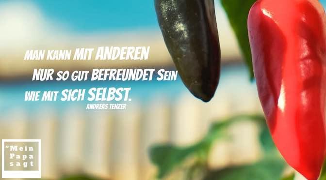Man kann mit anderen nur so gut befreundet sein wie mit sich selbst – Andreas Tenzer