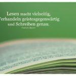 Seiten Buch mit Bacon Zitate Bilder: Lesen macht vielseitig, Verhandeln geistesgegenwärtig und Schreiben genau. Francis Bacon
