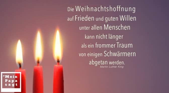 Die Weihnachtshoffnung auf Frieden und guten Willen unter allen Menschen kann nicht länger als ein frommer Traum von einigen Schwärmern abgetan werden
