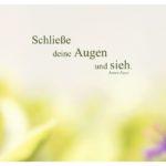Pflanzen unscharf mit Joyce Zitate Bilder: Schließe deine Augen und sieh. James Joyce