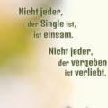 Beitragsbild - Nicht jeder, der Single ist, ist einsam. Nicht jeder, der vergeben ist, ist verliebt.