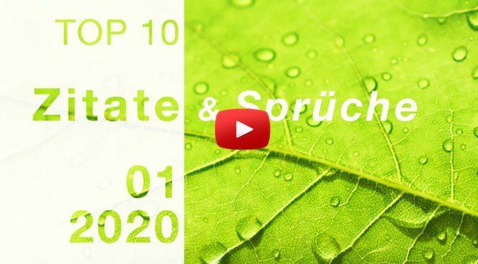 TOP 10 – </br>Zitate & Sprüche </br> Januar – 2020