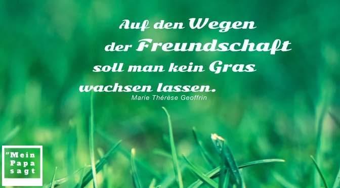 Auf den Wegen der Freundschaft soll man kein Gras wachsen lassen – Marie Thérèse Geoffrin