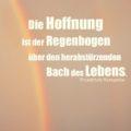 Die Hoffnung ist der Regenbogen über den herabstürzenden Bach des Lebens - Friedrich Nietzsche