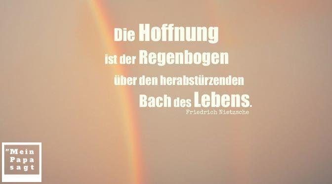 Beitragsbild - Die Hoffnung ist der Regenbogen über den herabstürzenden Bach des Lebens