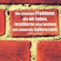 Beitragsbild - Die meisten Probleme, die wir haben, resultieren also letztlich aus unserem Selbstschutz