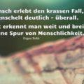 Ein Mensch erlebt den krassen Fall, es menschelt deutlich - überall - Eugen Roth