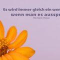 Es wird immer gleich ein wenig anders, wenn man es ausspricht - Hermann Hesse