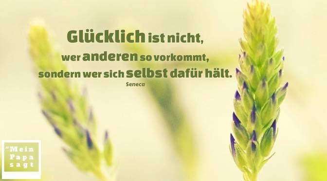 Glücklich ist nicht, wer anderen so vorkommt, sondern wer sich selbst dafür hält – Seneca