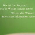Beitragsbild - Wo ist die Weisheit, die wir im Wissen verloren haben? Wo ist das Wissen, das wir in der Information verloren haben?