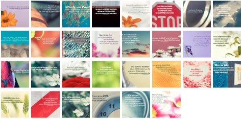 Übersichtsbild. Bilder Galerie mit Lebensweisheiten, Weisheiten, Zitate Bilder, Sprichwörter, Affirmationen und Sprüche Bilder des Tages Juni 2020
