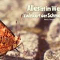 Alles ist im Werden, zwinkert der Schmetterling - Nelly Sachs
