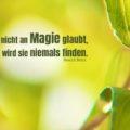 Wer nicht an Magie glaubt, wird sie niemals finden - Roald Dahl