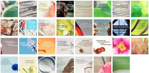 Übersichtsbild. Bilder Galerie mit Lebensweisheiten, Weisheiten, Zitate Bilder, Sprichwörter, Affirmationen und Sprüche Bilder des Tages Juli 2020