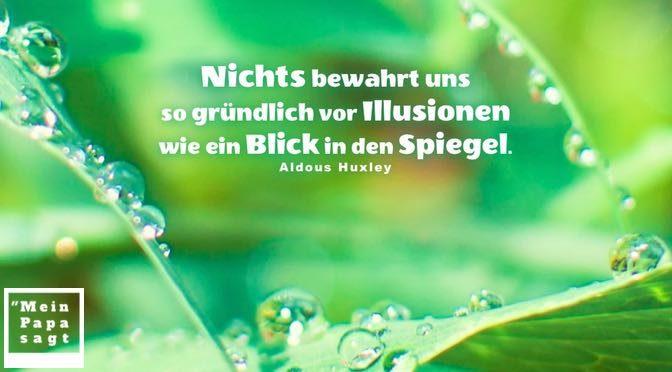 Nichts bewahrt uns so gründlich vor Illusionen wie ein Blick in den Spiegel – Aldous Huxley