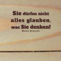 Sie dürfen nicht alles glauben, was Sie denken! Heinz Erhardt