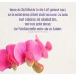 Orchideen mit Thoreau Zitate mit Bild: Wenn du Schlösser in die Luft gebaut hast, so braucht deine Arbeit nicht umsonst zu sein; dort gehören sie nämlich hin. Und nun gehe daran, die Fundamente unter sie zu bauen. Henry David Thoreau
