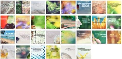 Übersichtsbild. Bilder Galerie mit Lebensweisheiten, Weisheiten, Zitate Bilder, Sprichwörter, Affirmationen und Sprüche Bilder des Tages September 2020