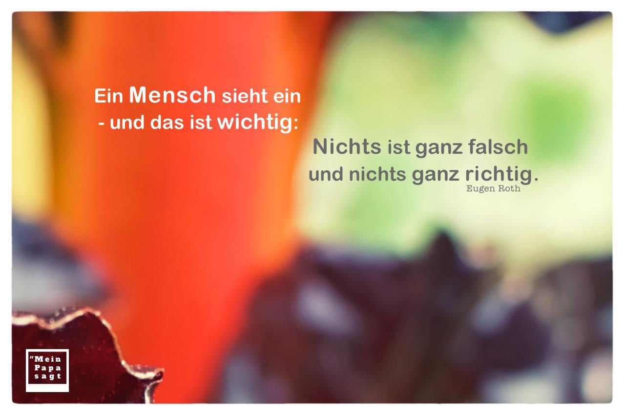 Gemüse unscharf mit Roth Zitate Bilder: Ein Mensch sieht ein - und das ist wichtig: Nichts ist ganz falsch und nichts ganz richtig. Eugen Roth
