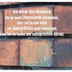 Alte Ziegelsteinmauer mit Voltaire Zitate Bilder: Ich werde Ihre Meinung bis an mein Lebensende bekämpfen, aber ich werde mich mit allen Kräften dafür einsetzen, dass Sie sie haben und aussprechen dürfen. Voltaire