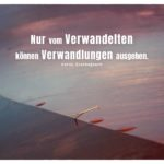 geschliffener Stein mit Kierkegaard Zitate Bilder: Nur vom Verwandelten können Verwandlungen ausgehen. Søren Kierkegaard