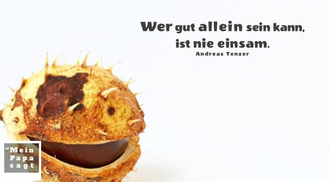 Wer gut allein sein kann, ist nie einsam – Andreas Tenzer