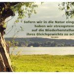 Flusslauf Havel mit Heraklit Zitate Bilder: Sofern wir in die Natur eingreifen, haben wir strengstens auf die Wiederherstellung ihres Gleichgewichts zu achten. Heraklit